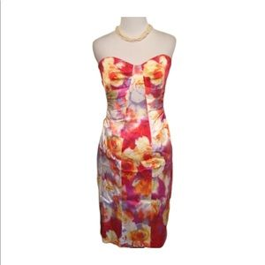 David Meister Stapless Floral Structured Dress 4